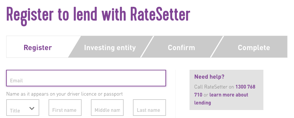 Ratesetter - Lender Application